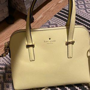Kate spade yellow satchel bag